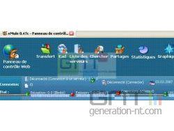 Interface depuis le navigateur web