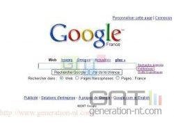 Page d'accueil de Google France