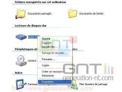 Sélection du disque dur