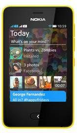 Nokia Asha 501 face