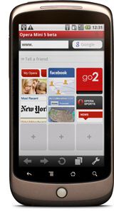 Opera Mini 5 beta Android