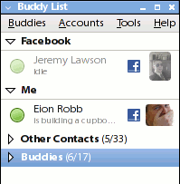 Facebook Chat for Pidgin Screen