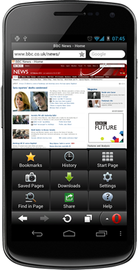 Opera Mini 7 Android
