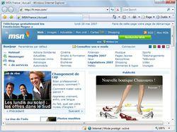 Menus Internet Explorer 7 vue 1