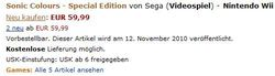 Sonic Colours Special Edition - Amazon