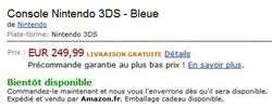 Amazon - prix Nintendo 3DS