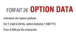 Free Mobile option Internet 2