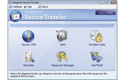 steganos secure traveler screen