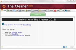 The Cleaner screen