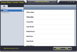 Tansee iPhone Transfer Contact  screen