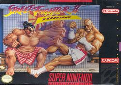Street Fighter II Turbo - jaquette SNES