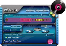 Bigasoft BlackBerry Ringtone Maker screen
