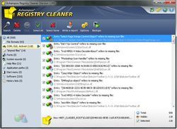 Ashampoo Registry Cleaner screen