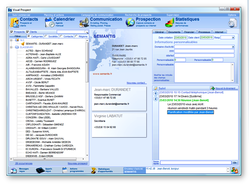 CRM-Visual Prospect screen