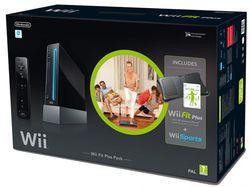 Wii Fit Plus Pack - console noire