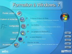 Je me forme à Windows 7 screen 1