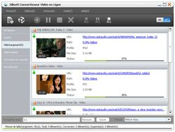 Xilisoft Online video Converter screen