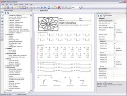 Math Resource Studio screen