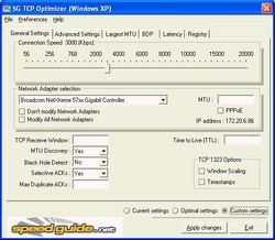 SG TCP Optimizer