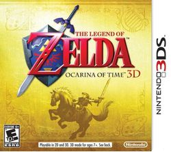 The Legend of Zelda Ocarina of Time 3DS - jaquette USA