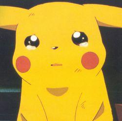 Pikachu pleure