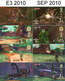 Zelda Skyward Sword - E3 vs Septembre 2010