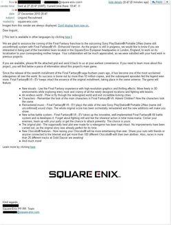 Final Fantasy VII Enhanced Version - mail Square Enix