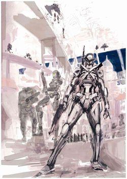 Vanquish - dessins préparatoires (1)