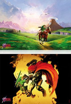 The Legend of Zelda Ocarina of Time 3D - poster collector