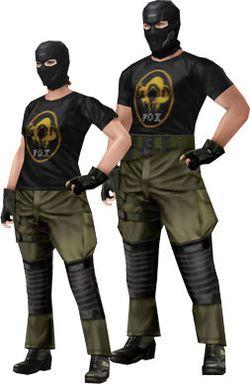 Metal Gear Solid Peace Walker - T-shirt Fox