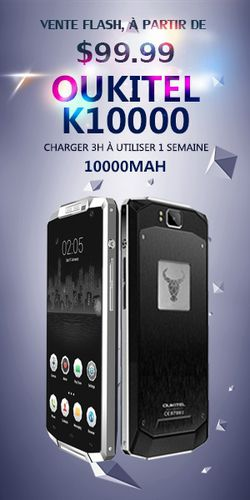 Oukitel K10000 vente flash