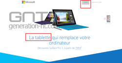 Page produit Surface Pro 3