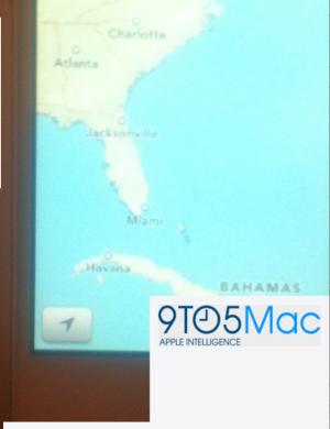 iOS 6 Maps bouton