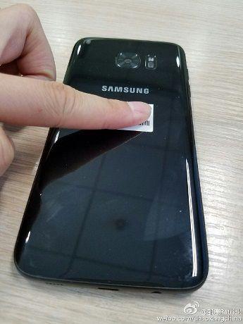 Galaxy S7 noir brillant
