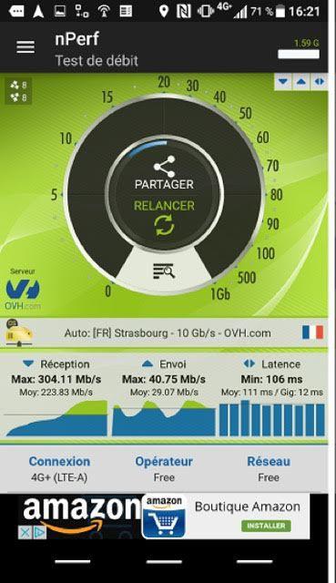 Free Mobile nPerf 700 MHz
