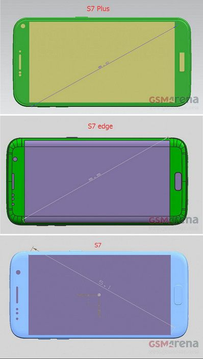 Galaxy S7 Plus rendu