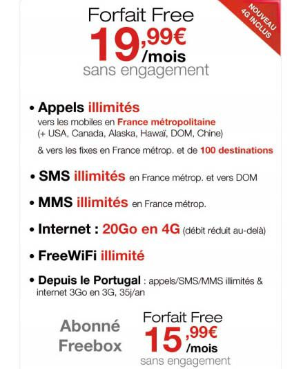 4G Free mobile