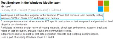 Windows Phone 9
