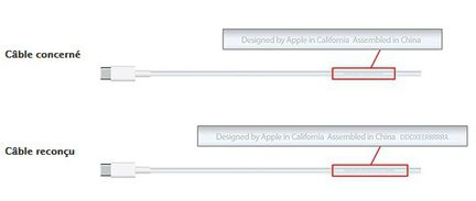 câble USB MacBook défaillant