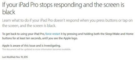 iPad Pro fix