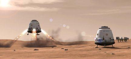 Dragon V2 SpaceX Mars