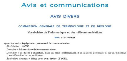 BYOD AVEC abreviation