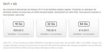 nouvel iPad WiFi 4G