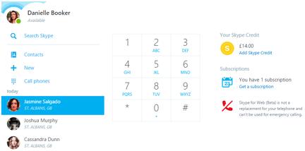 Skype-Web-appel