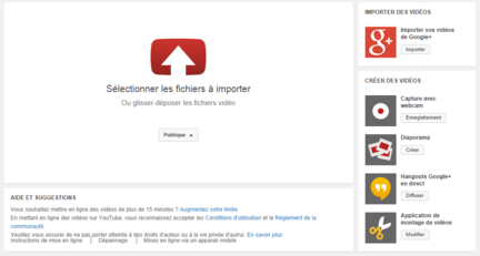 YouTube-importer-videos-google+