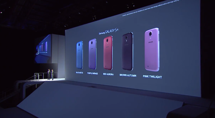Samsung Galaxy S4 coloris