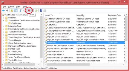 certificat-eDellRoot