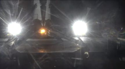 Falcon 9 barge atterrissage