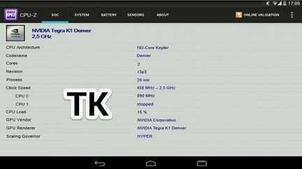 Nexus 9 benchmark Tegra K1