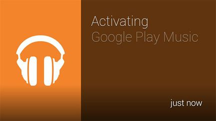 Google Play Music Glass